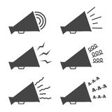 Megaphone Icons Royalty Free Stock Photography
