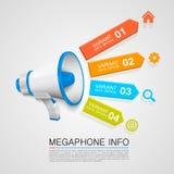 Megaphone info Stock Image