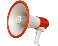 Megaphone isolated on white Stock Images