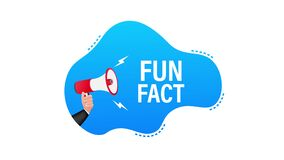 Megaphone label with fun fact. Megaphone banner. Motion graphics