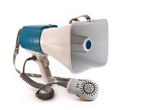 Megaphone. Large megaphone on white background Royalty Free Stock Photos