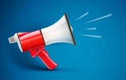 Megaphone loud-speaker for voice amplification. Eps10 vector illustration Stock Photography