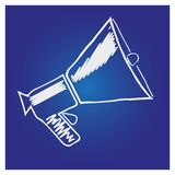 Megaphone, loudspeaker isolated symbol. For web design and printing Stock Images