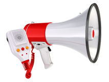 Megaphone or loudspeaker isolated on white. Stock Images