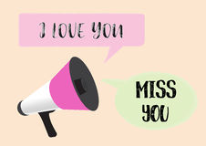 Megaphone with love message Royalty Free Stock Photography
