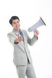 Megaphone manager Stock Image