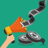 Megaphone marketing cinema picture Stock Photography