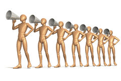 Megaphone men Royalty Free Stock Photo