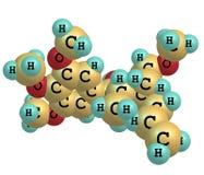 Megaphone molecule  on white Stock Photos