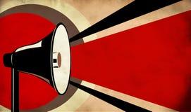 Megaphone Or Loudspeaker On Grunge Background Stock Images