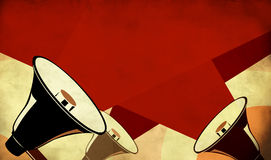 Megaphone Or Loudspeaker On Grunge Background Royalty Free Stock Image