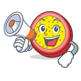 With megaphone passion fruit character cartoon. Vector illustration Royalty Free Stock Photography