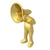 Megaphone Person. Computer generated image - Megaphone Person Royalty Free Stock Images