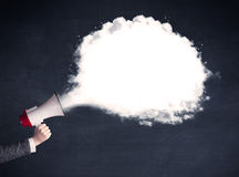 Megaphone with plain message cloud Royalty Free Stock Photography