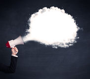 Megaphone with plain message cloud Royalty Free Stock Photo