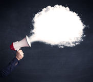Megaphone with plain message cloud Royalty Free Stock Images