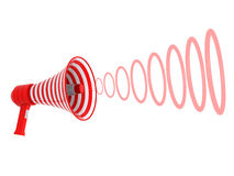 Megaphone and red rings Stock Photo