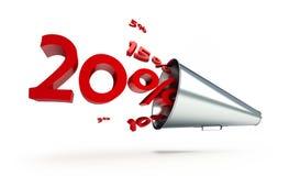 Megaphone sale promotion Stock Photos