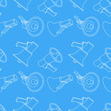 Megaphone seamless pattern background Stock Image