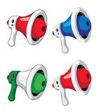 Megaphone set Royalty Free Stock Images