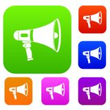 Megaphone set color collection Stock Images