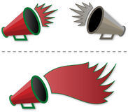 Megaphone shout-out Royalty Free Stock Photo