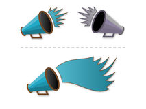 Megaphone shout-out Royalty Free Stock Images