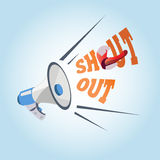 Megaphone. shouting out -. Illustration Royalty Free Stock Photography