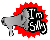 Megaphone silly Royalty Free Stock Photos