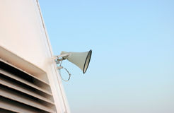 Megaphone on sky Royalty Free Stock Images