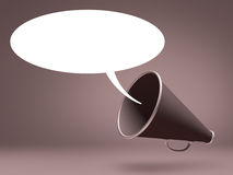 Megaphone Speak Stock Image