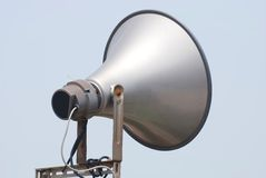 Megaphone speak to sky. A megaphone speak to sky Royalty Free Stock Photos