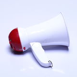 Megaphone speaker device, white red color, no logo Royalty Free Stock Photography
