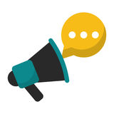 Megaphone speaker messsage marketing Stock Images