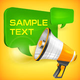 Megaphone and speech bubble Royalty Free Stock Images