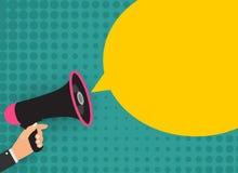 Megaphone with speech bubble. Vector Illustration royalty free illustration