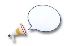 Megaphone and speech bubble Royalty Free Stock Photos