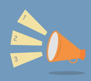 megaphone speech templates for text or infographic Royalty Free Stock Photography