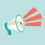 Megaphone speech templates for text Stock Images