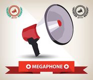 Megaphone symbol,Vector Royalty Free Stock Photo