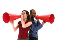 Megaphone Team Stock Photography