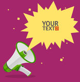 Megaphone text bubble card. Vector Royalty Free Stock Photo