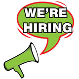 Megaphone and Text We Are Hiring icon Stock Photo