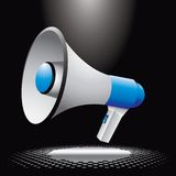 Megaphone under spotlight Royalty Free Stock Image