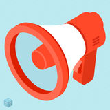 Megaphone vector isometric icon. Stock Images