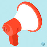 Megaphone vector isometric icon. Stock Photo