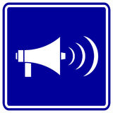 megaphone vector sign Royalty Free Stock Photo