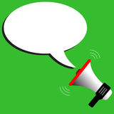 Megaphone vector speech bubbles illustration. Megaphone vector with speech bubbles illustration Stock Photo