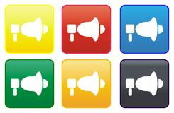 Megaphone web button Royalty Free Stock Image