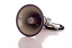 Megaphone on White Royalty Free Stock Photos